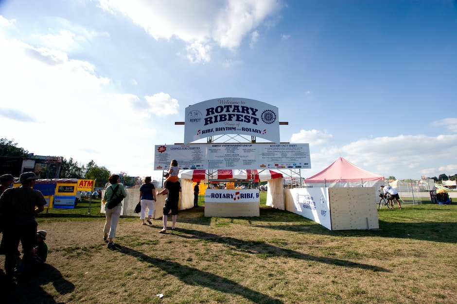 The entrance to Guelph Ribfest 2011