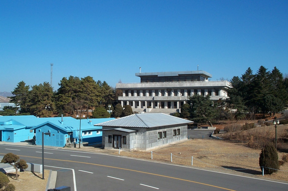 Joint Security Area (JSA) at Panmunjom, within the De-Militarized Zone (DMZ) at the border between North and South Korea