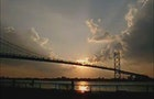 Sunset at the Ambassador Bridge