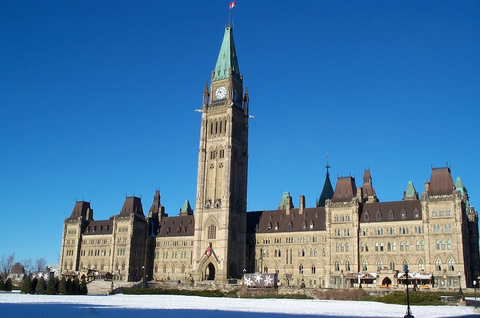 The Parliament building in Ottawa, Canada
