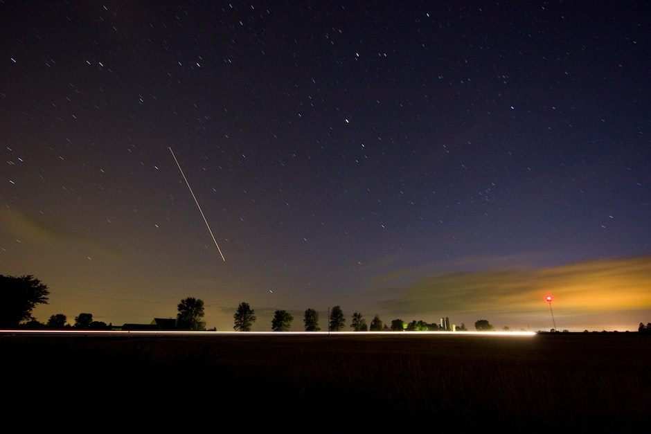 A meteor caught burning up in the atmosphere