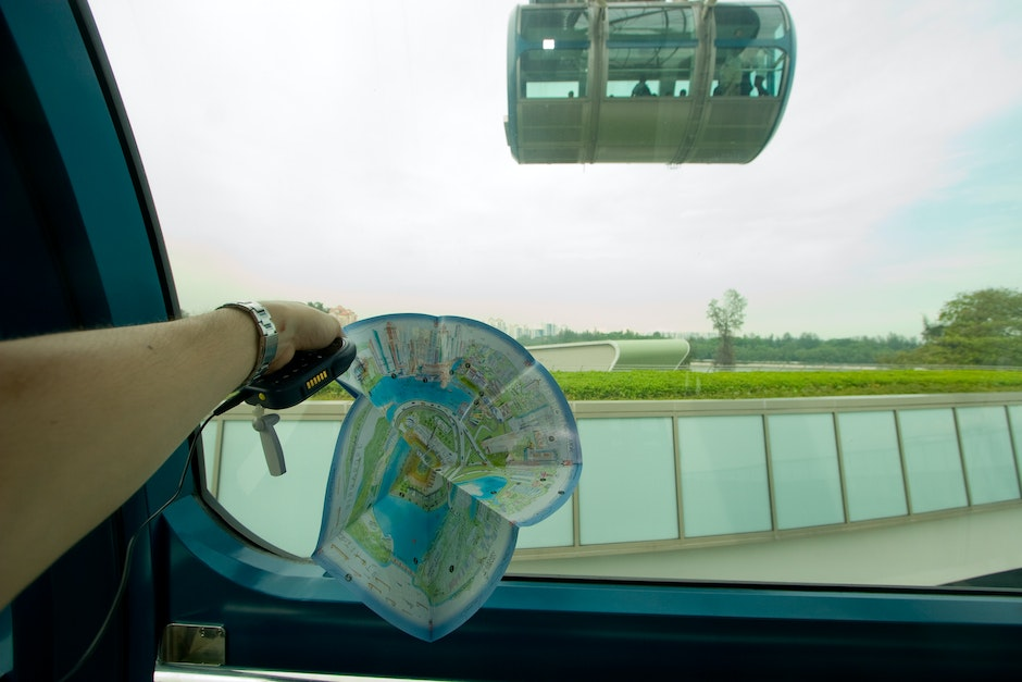 A circular map that encompanies all riders of the Singapore Flyer