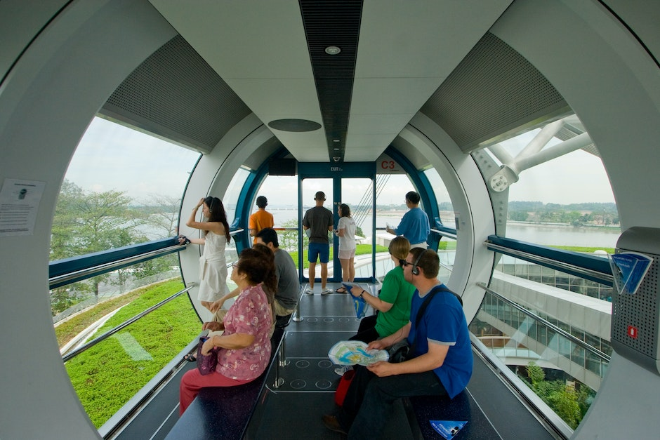 Inside a Singapore Flyer capsule