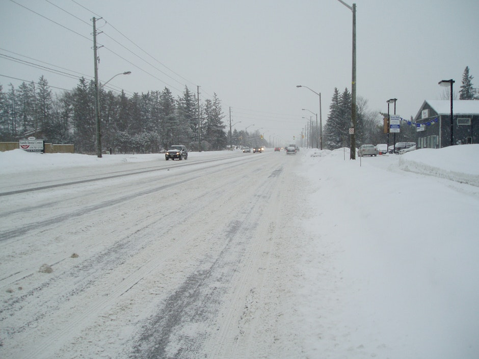 Slippery winter conditions on Gordon Street, Guelph