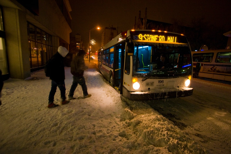 The exceptional Guelph Transit system continues to run despite adverse driving conditions