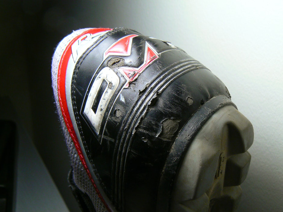 A lot of damage behind the shoe after nearly a year of use, mostly from a car accident. Mostly skin deep damage, though
