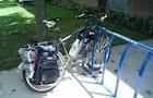 Bicycle bags using backpacks